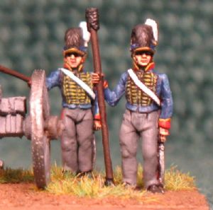 15mm, Napoleonic British Royal Horse Artillery AB 4 figures + Gun